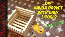 DIY  Vanda Orchid Basket using only 3 tools